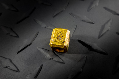 Zach Wood Handmade Brass Lanyard Bead With ZW Stamp