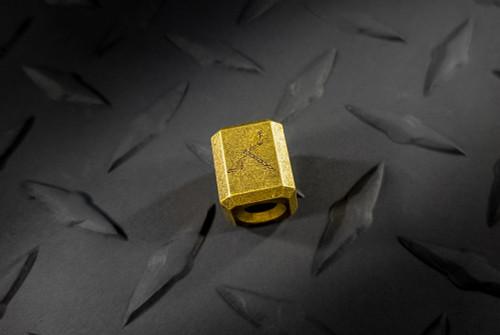 Zach Wood Handmade Brass Lanyard Bead w/ Dragonfly Stamp
