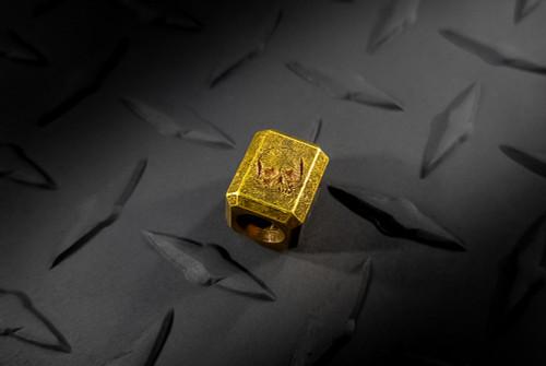 Zach Wood Handmade Brass Lanyard Bead With Skull Stamp