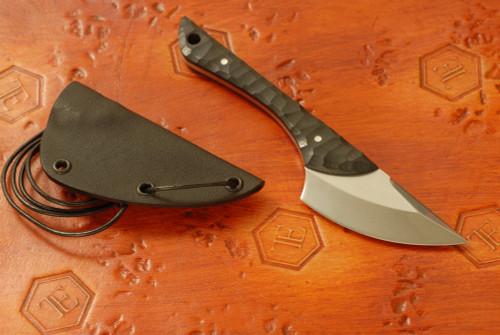 Norse Artefakt: Krummax Neck Knife with Black G10 handles