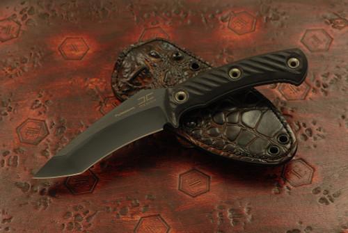 RMJ Tactical Peregrine w/ Hybrid leather / kydex sheath - Jonathan Carmack Design