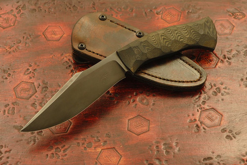 Jason Knight - Custom Kukri Black/Green Textured