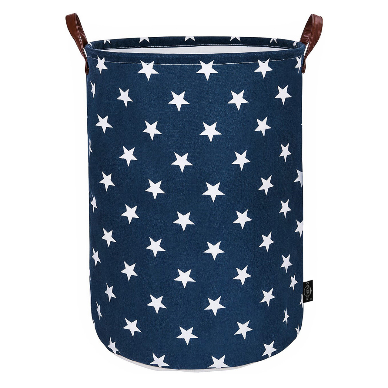 4d85747f7a74 DOKEHOM 19-Inches Thickened Large Drawstring Laundry Basket Storage  -(Available 19 and 22 Inches in 9 Colors)- with Durable Leather Handle,  Cotton ...