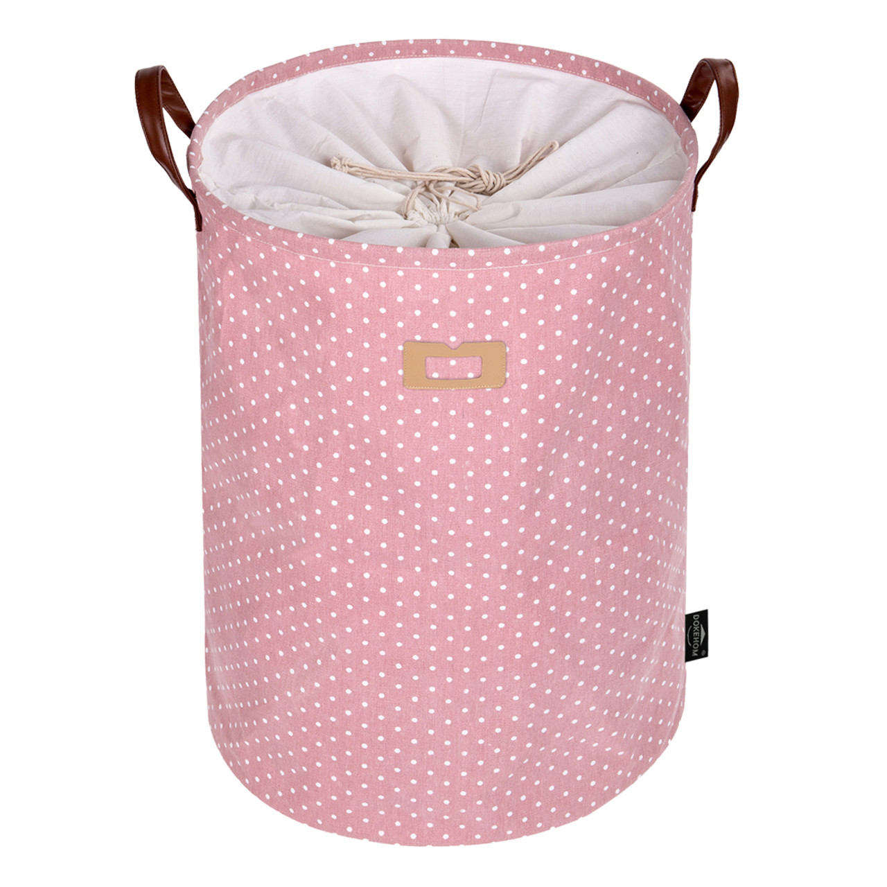 67e4ffba01fb DOKEHOM 22-Inches Thickened X-Large Drawstring Laundry Basket  Storage-(Available 19 and 22 Inches in 9 Colors)- with Durable Leather  Handle, Cotton ...