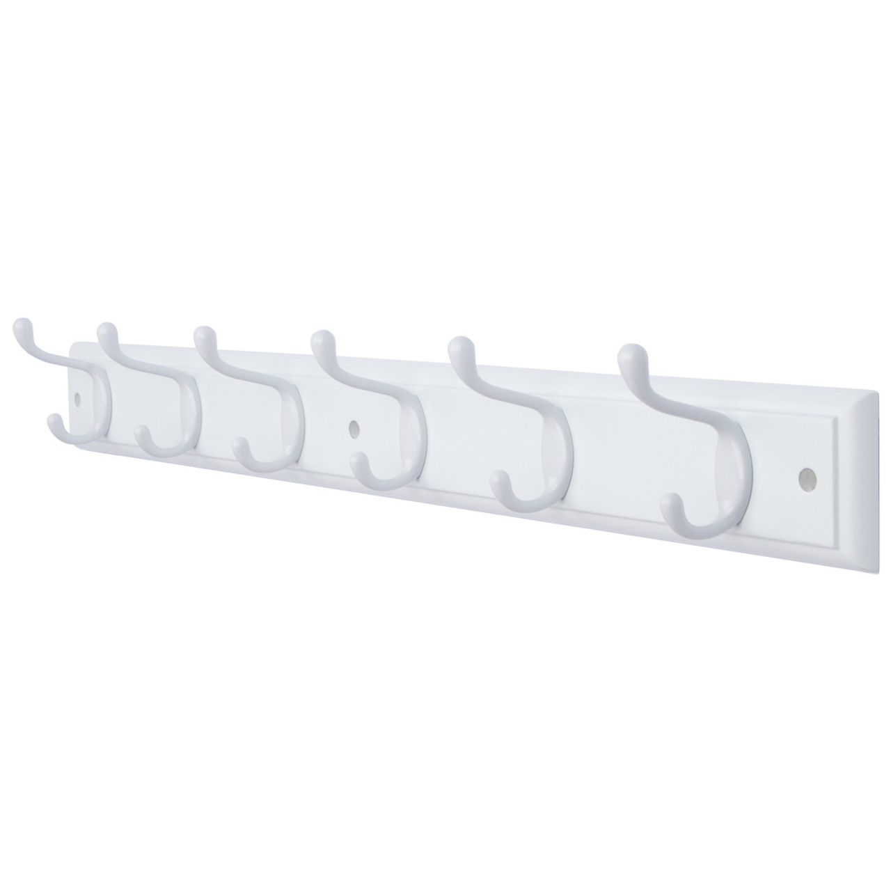 Available 4 and 6 Hooks in 4 Colors on White Wooden Board Wall Mounted Coat Hook Rack Hanger DOKEHOM 2 Set 4-Satin Nickel Hooks