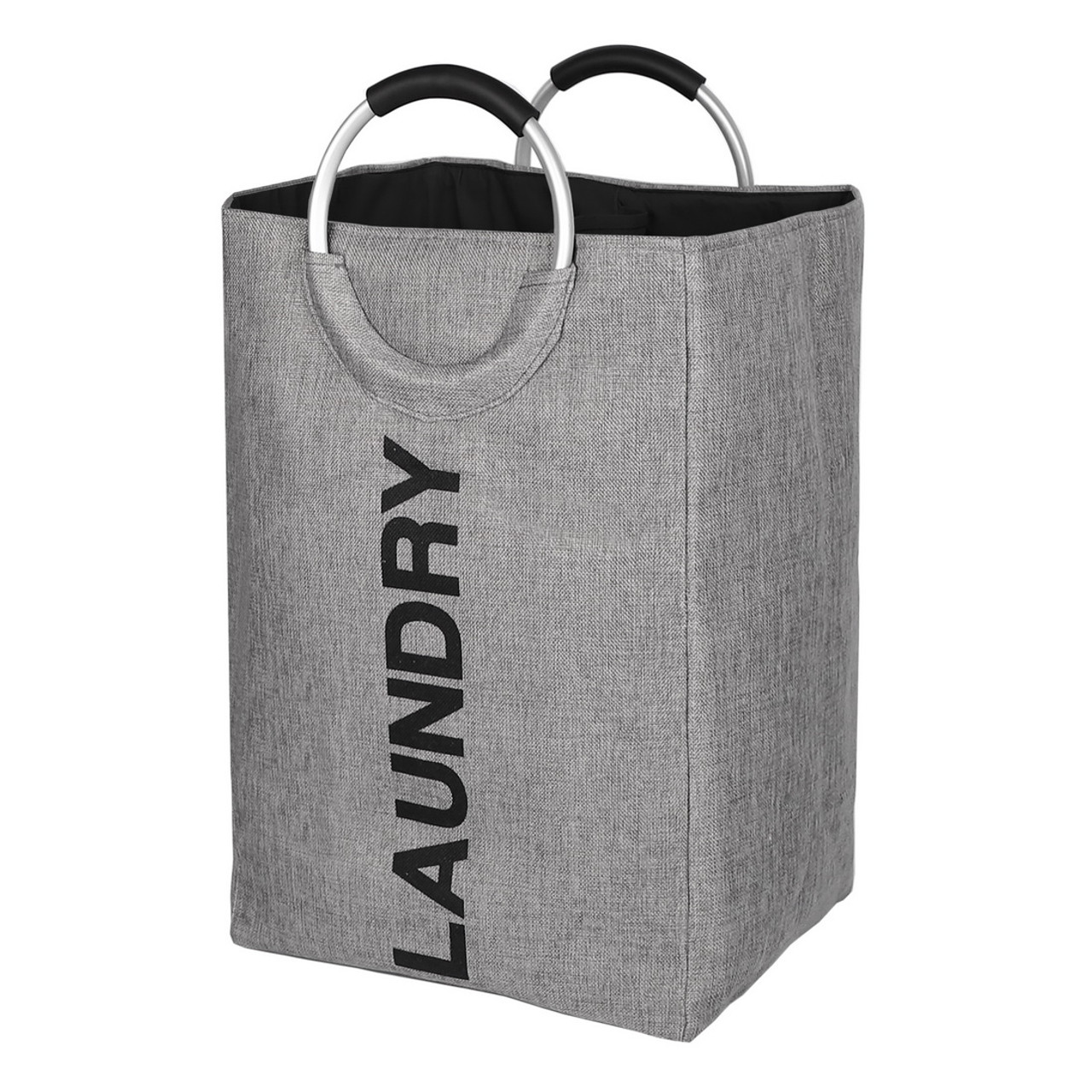 Foldable Clothes Bag Collapsible Fabric Laundry Hamper Folding Washing Bin Dark Grey, XL DOKEHOM 115L X-Large Linen Imitation Laundry Basket with Coin Pocket
