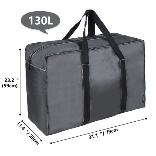c9a38aa25071 DOKEHOM 130L Thickened X-Large Underbed Clothes Storage Bag with Zip,  Moisture proof (Dark Grey, XL)