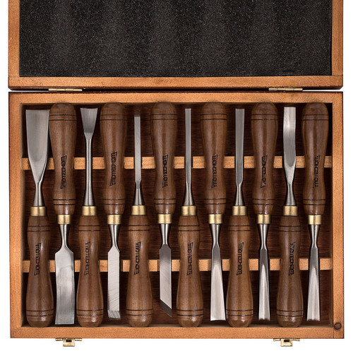 Imotechom pieces wood carving tools chisel set with walnut