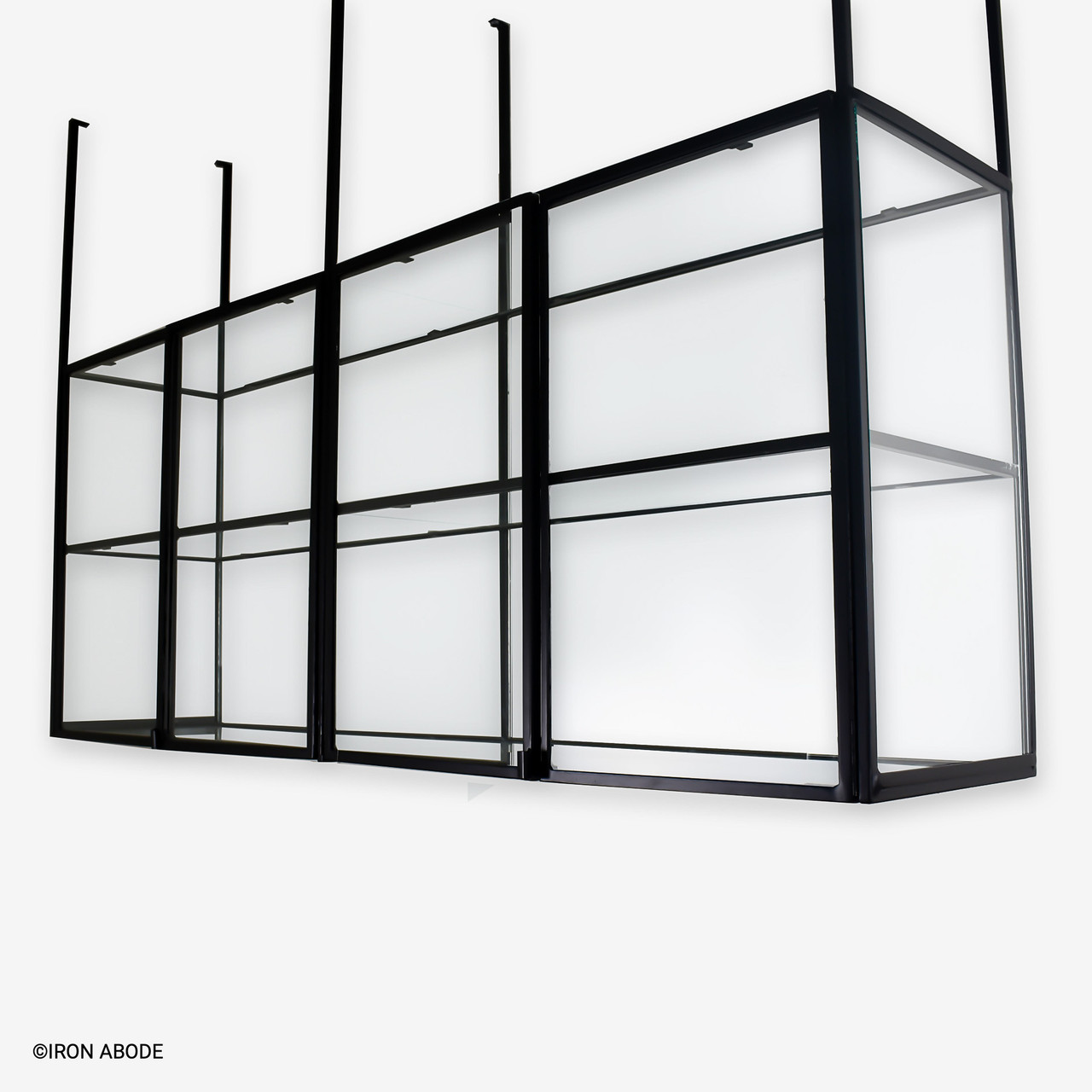 """Camden (1/2"""") Glass and Steel Cabinet"""