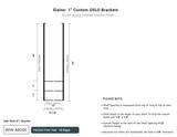 "10 Days- Custom OSLO 1"" Brackets and shelf casings- ELAINE"