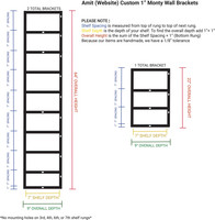 "Custom Monty (1"") Brackets- 3 Total- Amit (Production Time: 8 days)"