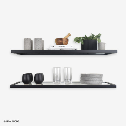 Floating-glass-shelves-with-decor