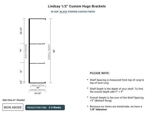 "3-4 WEEKS Custom Hugo 1/2"" Glass Unit - Lindsay"
