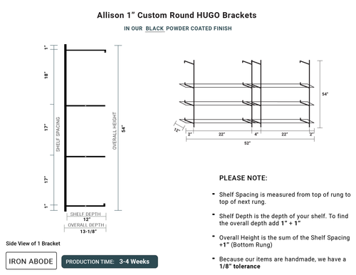 """3-4 WEEKS Custom Rounded Hugo 1"""" Glass Unit - Alison"""