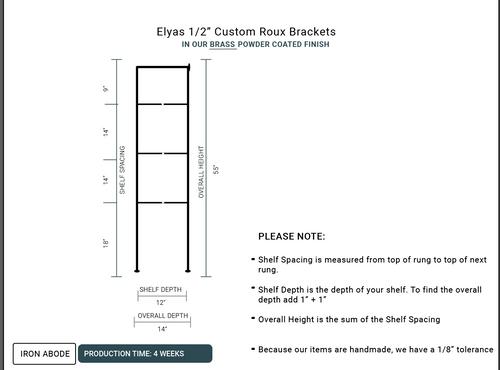 "4 WEEKS- Custom Roux 1/2"" Glass Unit- Elyas"