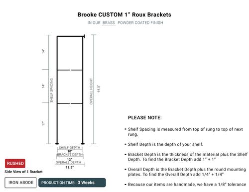 "3 WEEKS *RUSHED*- Custom Roux 1"" Glass Units- Brooke"