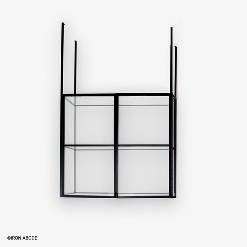 """Camden 1/2"""" Glass and Steel Cabinet"""