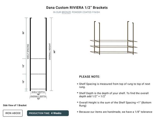 """4 WEEKS- Custom Riviera 1/2"""" Glass Unit -Dana"""