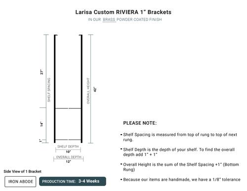 "4 WEEKS- Custom Riviera 1"" Wood and Glass Unit -Larisa"
