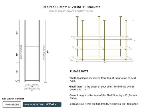 "4 WEEKS- Custom Riviera 1"" Glass Unit -Desiree"