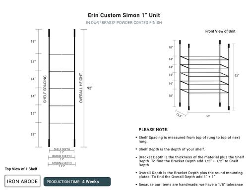 "4 WEEKS- Custom Simon 1"" Units -Erin"