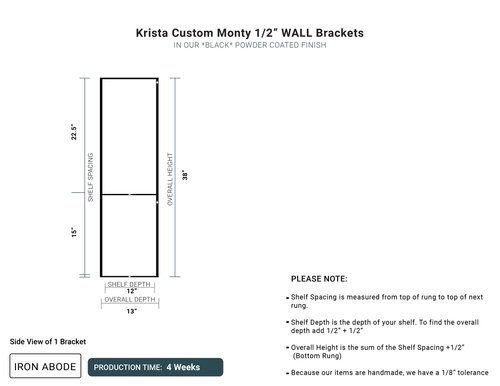 "4 WEEKS- Custom Monty 1/2"" Glass Wall Unit -Krista"