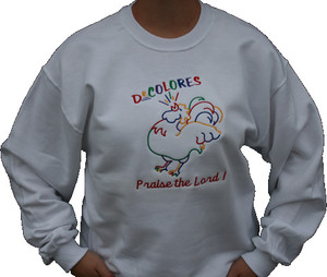 Rooster/Praise Embroidered Sweatshirt