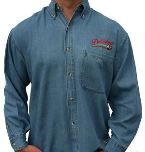 DeColores/Rainbow/Rooster Denim Shirt (Long Sleeve)