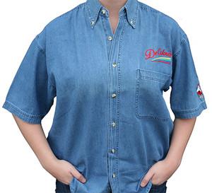 DeColores/Rainbow/Rooster Denim Shirt (Short Sleeve)
