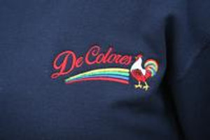 DeColores/Rainbow/Rooster Long Sleeve Henley Navy