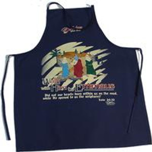 Walk With Him Apron Navy