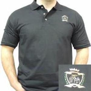 Emmaus Crest Design Black Polo