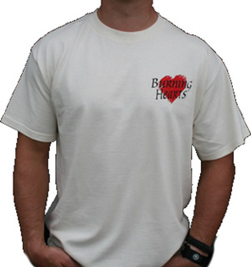 Burning Hearts Tee Shirt Front/Back Design