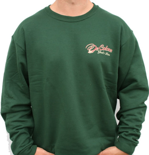 Walk With Him Forest Green Sweatshirt Front/Back Design