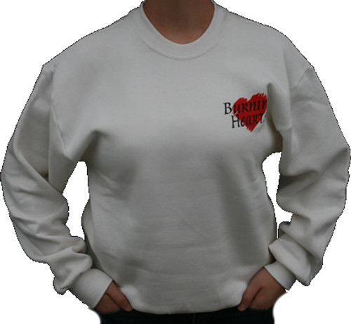Burning Hearts Sweatshirt Front/Back Design