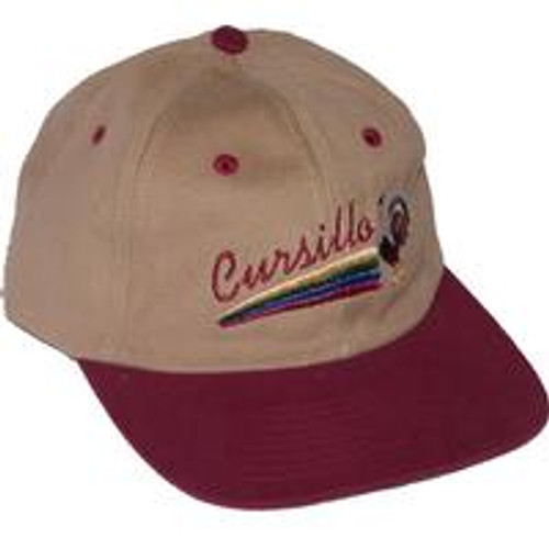 Cursillo Low Profile Hat Beige/Maroon