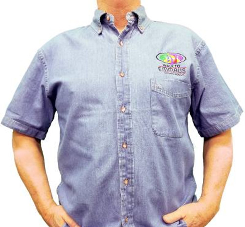 Walk To Emmaus Denim Shirt (Short Sleeve)