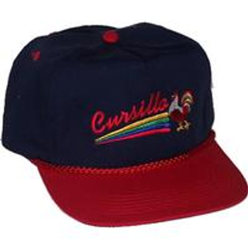 Cursillo Golf Hat Navy/Red