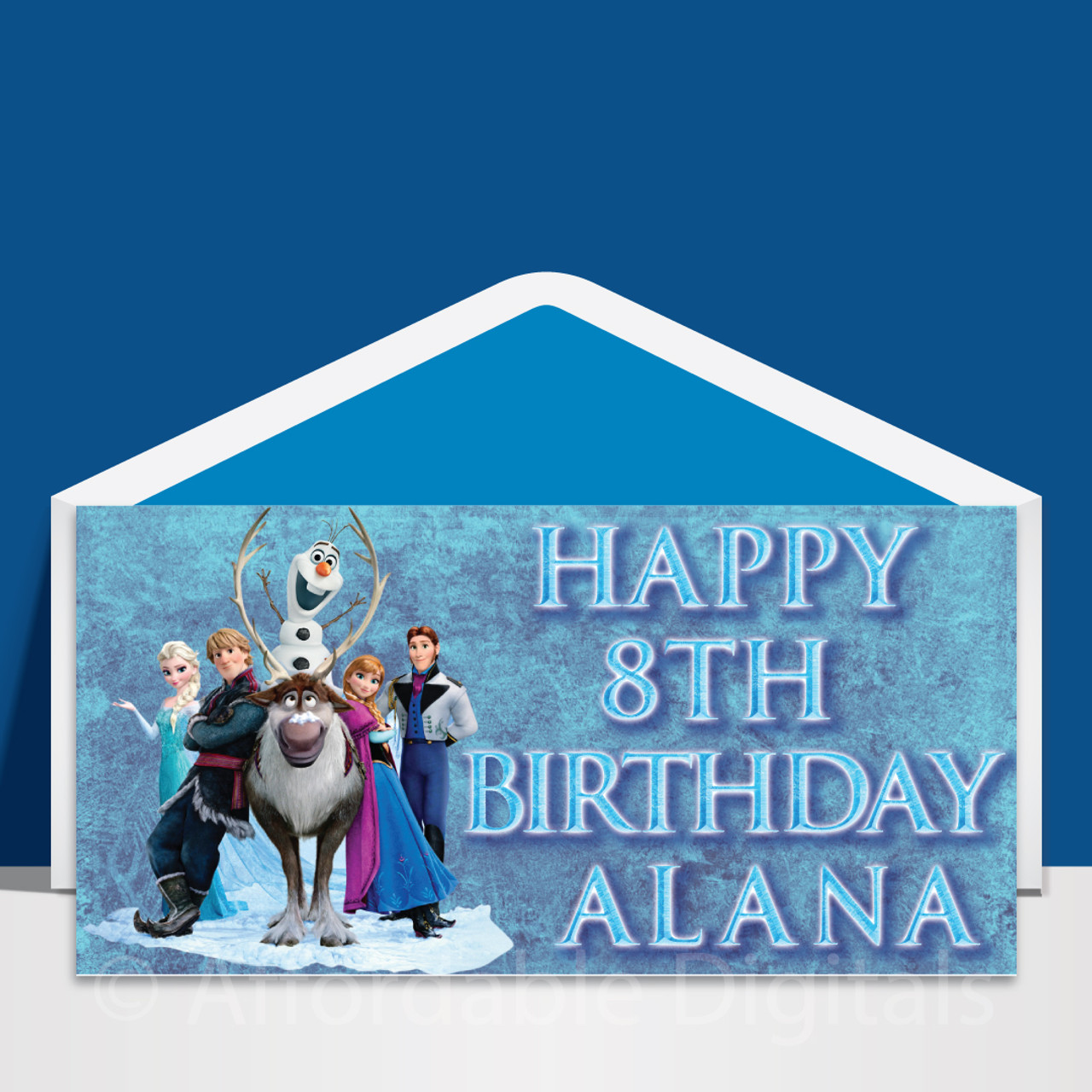 Stupendous Frozen Personalised Dl Birthday Card Design 10002 Affordable Funny Birthday Cards Online Barepcheapnameinfo