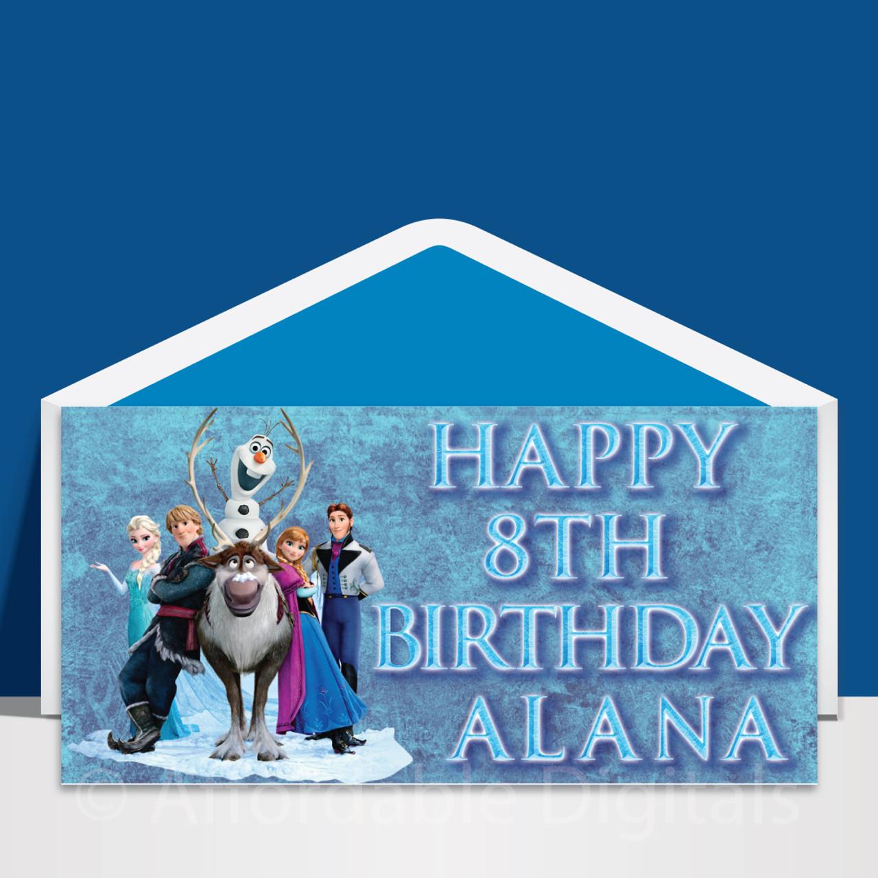 Enjoyable Frozen Personalised Dl Birthday Card Design 10002 Affordable Birthday Cards Printable Benkemecafe Filternl