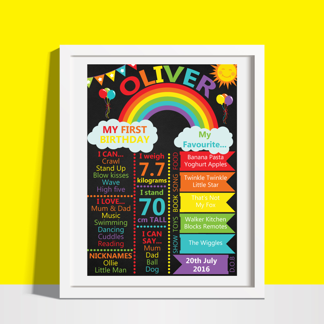 Hello Seventy Milestone Birthday Wall Art Poster