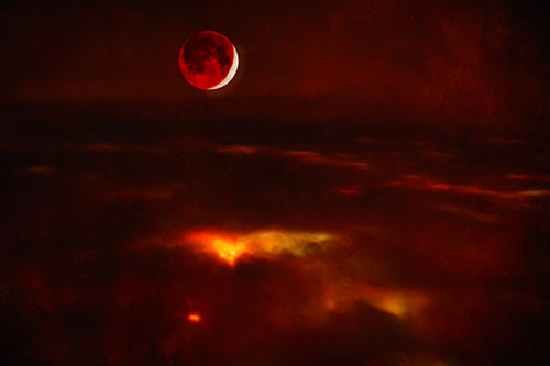 Blood Moon From Above