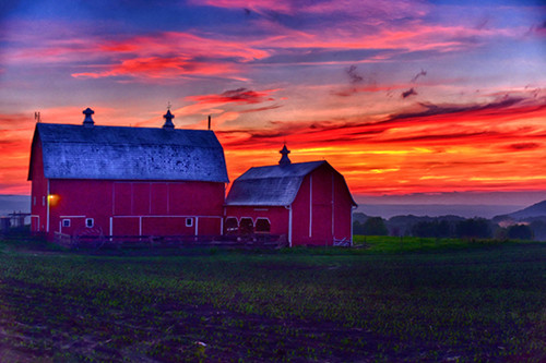 Red Barn Sunset