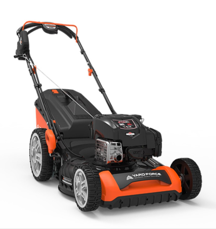 """22"""" 3-in-1 SELF PROPELLED ELECTRIC START LAWN MOWER WITH 20V LEAF BLOWER USED-LIKE NEW"""