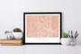 Peach Fayetteville Map Landscape  Art Print