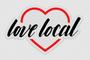 Love Local Clear Sticker