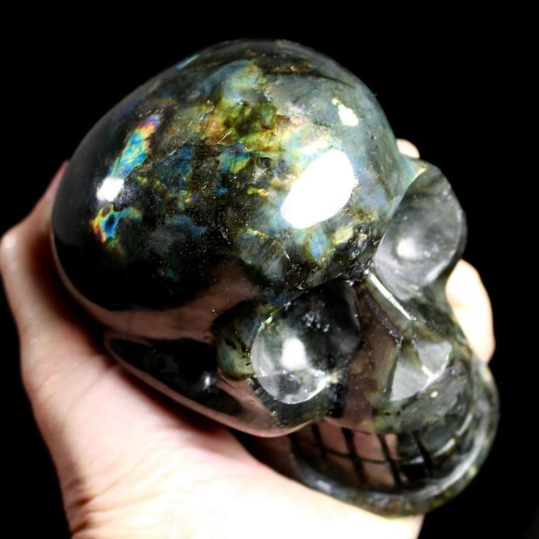 """Labradorite Crystal Skull 4.6"""""""