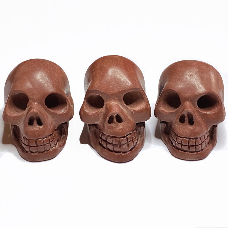 """Sedona Red Rock Crystal Skull Activated 1.5"""" ( 1 Piece )"""