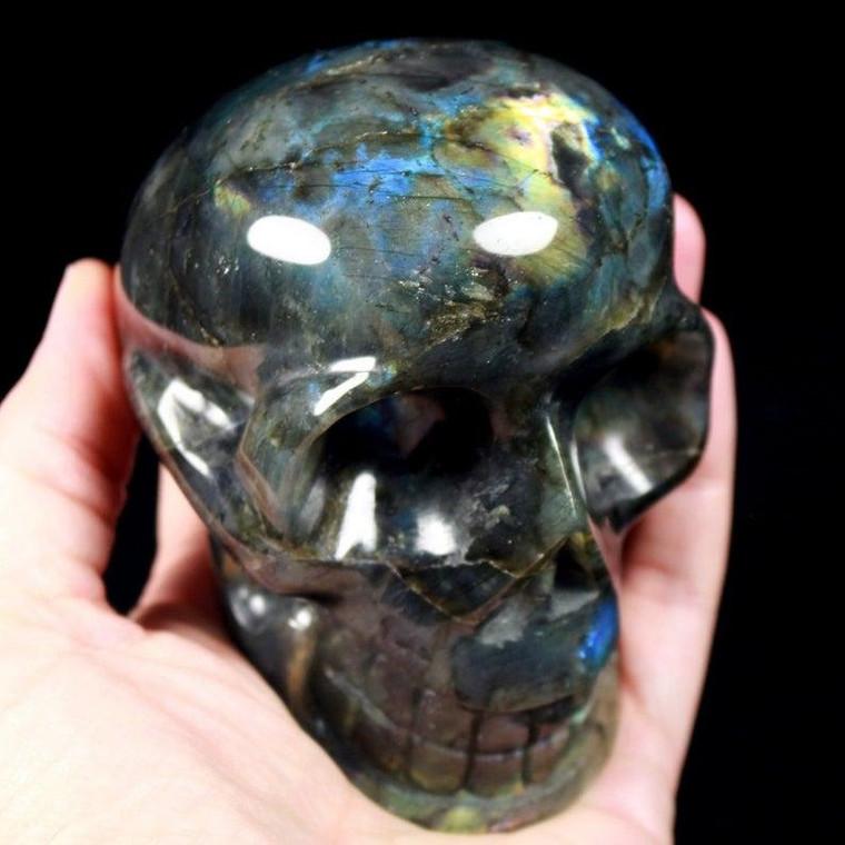 """Labradorite Crystal Skull Carving 4"""""""