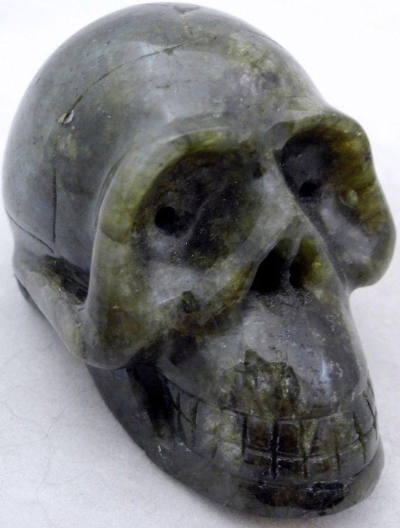 Raven's Carved Classic Style Labradorite  Crystal Skull